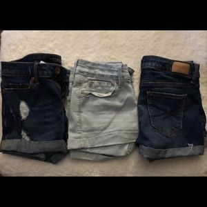 3 pairs of size 00 shorts